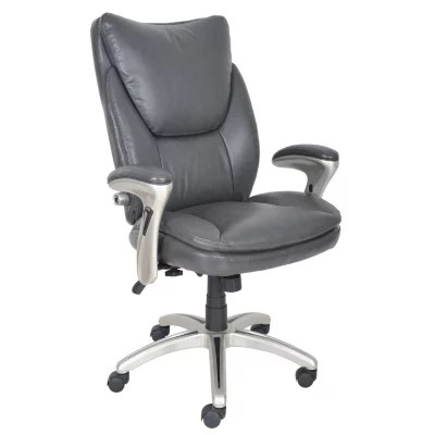 serta bonded leather executive chair posture support desk gray sam s club