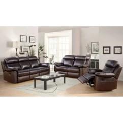 Fairfax 3 Piece Top Grain Leather Reclining Living Room Set Country Ideas Images Manhattan Sam S Club
