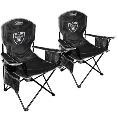 oakland raiders chair wheelchair stand price nfl cooler quad 2 pack sam s club