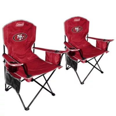 49ers camping chair iron wrought chairs nfl san francisco cooler quad 2 pack sam s club