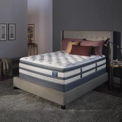 serta perfect sleeper luxury hybrid glenmoor firm pillow top full mattress set