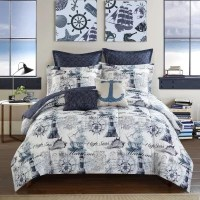 Idea Nuova Casa Nautical 7-Piece Comforter Set (Assorted ...