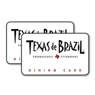 Texas De Brazil 100 Value Gift Cards 2 X 50 Sam S Club