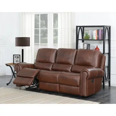 leather sofa sams club double futon bed uk member s mark harrison dual reclining sam exclusive
