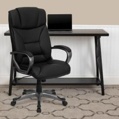 Leather Executive Office Chair Swinging With Stand Uk Flash Furniture Black Sam S Club