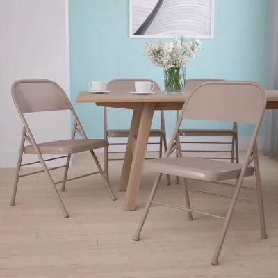 Hercules Metal Folding Chairs Beige  Sams Club