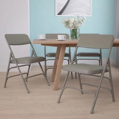 Hercules Vinyl Folding Chairs Gray  Sams Club