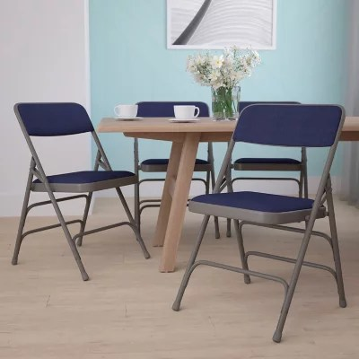 Hercules 1 Padded Metal Folding Chairs Navy  Sams Club