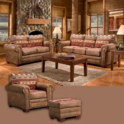 lodge living room furniture black and gold sierra set 4 pc sam s club