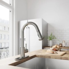 Stainless Steel Kitchen Faucet With Pull Down Spray Knobs Lowes Vigo Harrison Deck Plate Sam S Club