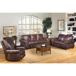 Sams Club Living Room Furniture Small Open Plan And Kitchen Designs Kingston Top Grain Leather Sofa Loveseat Recliner Set
