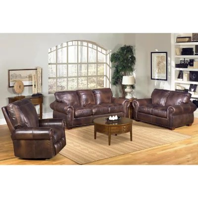 living room loveseat decorating rooms kingston top grain leather sofa and recliner set sam s club