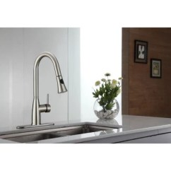 Kraus Kitchen Faucets Little Bakers Pull Down Faucet With Soap Dispenser Sam S Club
