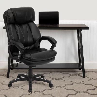 leather executive office chair lane and ottoman flash furniture hercules series high back black