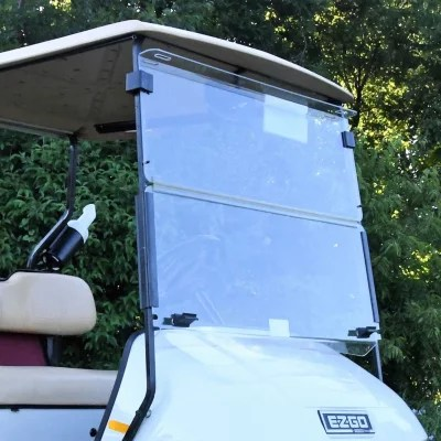 ezgo windshield back of head sinus diagram king b txt hinged golf car sam s club