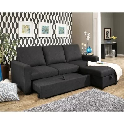 storage sectional sofa bed club furniture los angeles hudson fabric reversible with pullout sam s