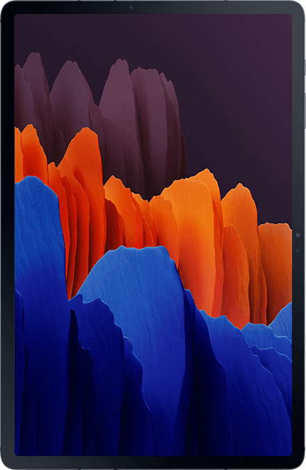 Front view of Galaxy Tab S7+