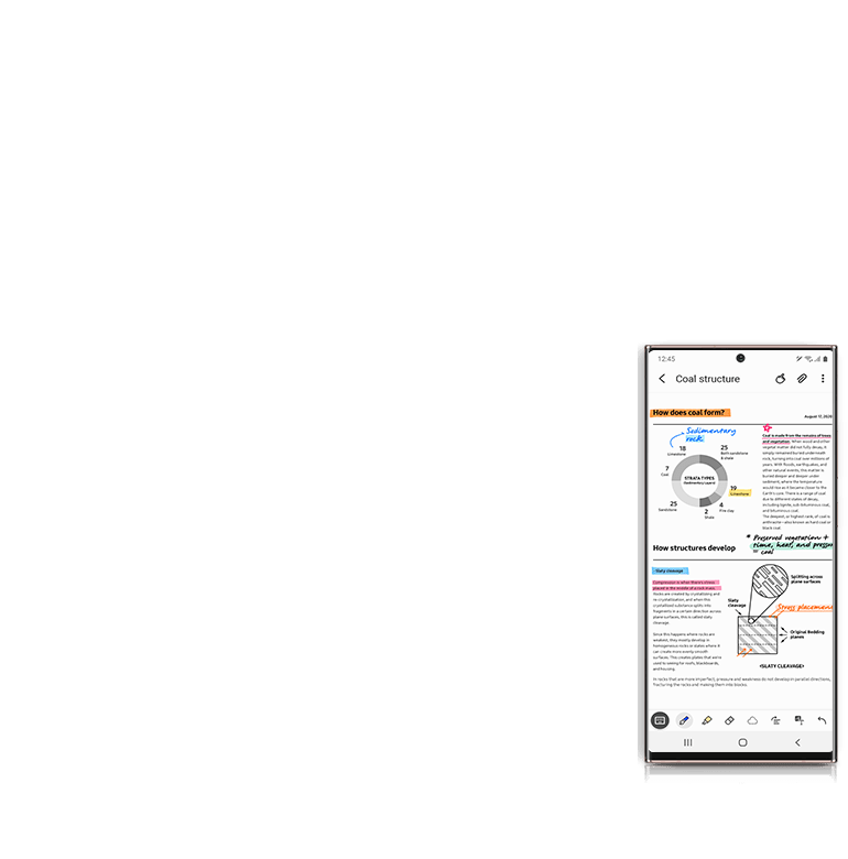 Samsung Notes auto syncs to your smartphone so you can work on the go