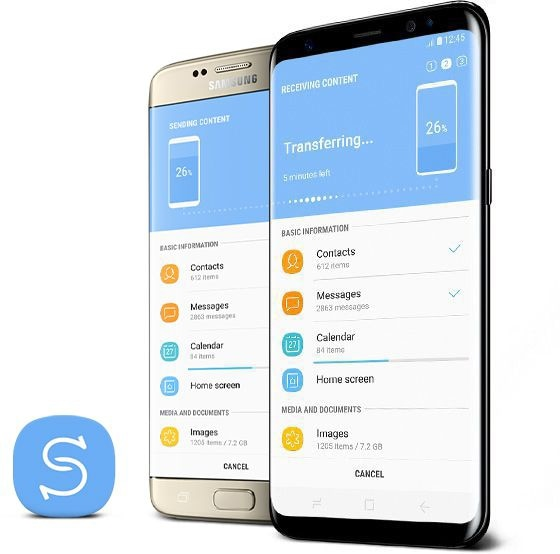 Galaxy S8 with Samsung Smart Switch
