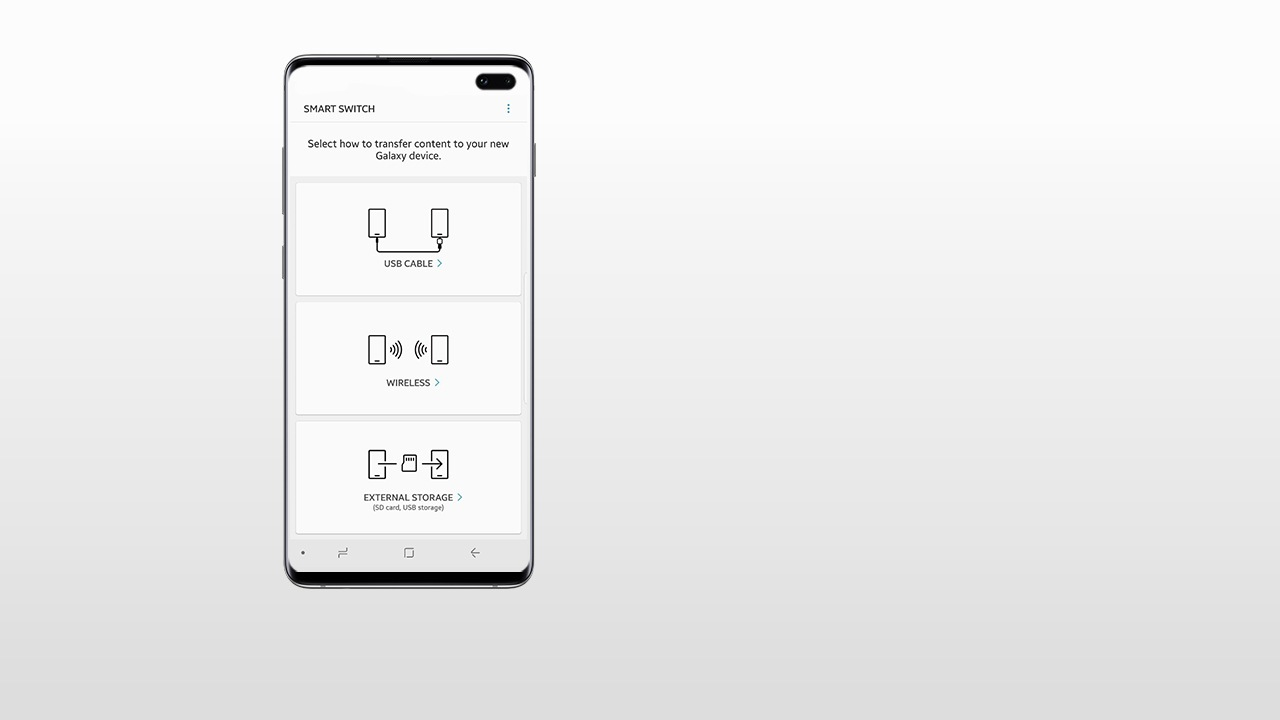 medium resolution of launch smart switch on both your old device and your new galaxy smartphone