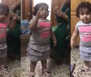 આ 3 વર્ષની છોકરીનો ડાન્સ જોઇને ડબ્બૂ અંકલને પણ ભૂલી જશો, જુઓ Viral Video