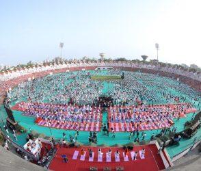 ગુજરાતની યોગા ડેની તસવીરો જોઈને તમને પણ યોગા કરવાની ચટપટી થશે