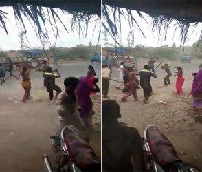 બે ગામના લોકો વચ્ચે થઇ જૂથ અથડામણ, જુઓ વીડિયો