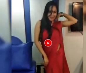 આ ટીવી અભિનેત્રીએ રેડ સાડીમાં જોરદાર ડાન્સ કરીને લગાવી આગ