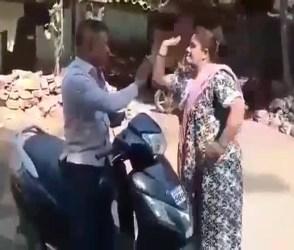 મહિલા બુટલેગરે ઉઘરાણી માટે આવેલા પોલીસના બાતમીદારને ફટકાર્યો, જુઓ Viral Video