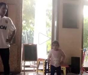 ધોનીની ડાન્સ ટ્રેનર બની તેની દીકરી ઝિવા, જોઇ લો કોણ છે સારું ડાન્સર