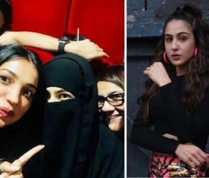 Photos: બુરખો પહેરીને પોતાની ફિલ્મ 'કેદારનાથ' જોવા પહોંચી સારા અલી ખાન