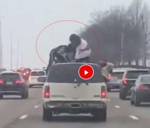 છોકરીઓએ કાર પર ચડીને કરી ખતરનાક હરકત, લોકો જોઇને રહી ગયા દંગ