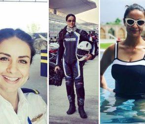 Photos: 40 વર્ષની આ અભિનેત્રીની જોઇ લો ફિટનેસ, બુલેટથી લઇને વિમાન પણ ચલાવી જાણે છે