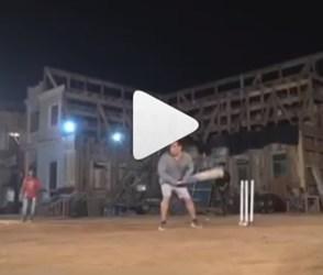 ક્રિકેટ રમતો જોવા મળ્યો સલમાન ખાન, ફટકાર્યા એક પર એક ચોગ્ગા