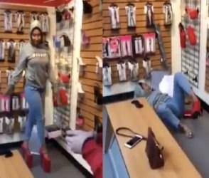 હાઇ હિલ્સ પહેરી સંતુલન ગુમાવતા યુવતી સાથે થયું એવું કે તમે પણ ચોંકી જશો, જુઓ વીડિયો