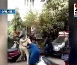 પોલીસ કોન્સ્ટેબલનો મહિલા કોન્સ્ટેબલ પર હુમલાનો Video Viral