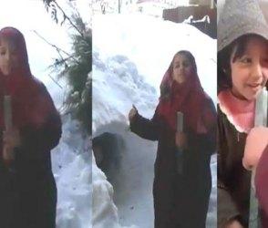 Video: બરફવર્ષામાં નાનકડી કાશ્મીરી છોકીરના રિપોર્ટિંગે કરોડો યુઝર્સના જીતી લીધા દિલ