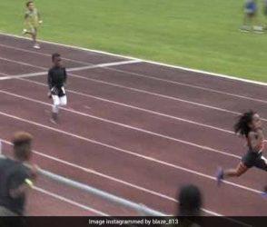 વિજળીવેગે દોડતા આ ટાબરીયાએ 13 સેકંડમાં પુરી કરી 100 મીટર રેસ, જુઓ Video