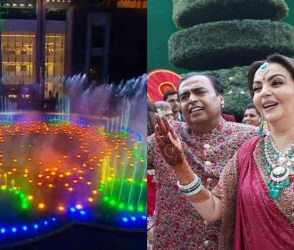 આકાશ-શ્લોકાના લગ્નની ખુશીમાં અનેરા 'મ્યુઝીકલ ફાઉન્ટેન શો' નો ભવ્ય Video
