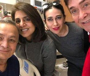 Photos: હોસ્પિટલમાં ઋષિ કપૂરની પહેલી તસવીર, પત્ની નીતૂ, મોટા ભાઈ સાથે દેખાયા