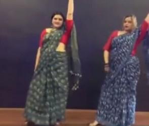 બે મહિલાઓએ સાડી પહેરી કર્યો જબરદસ્ત ડાન્સ, સોશિયલ મીડિયા પર મચાવી ધૂમ