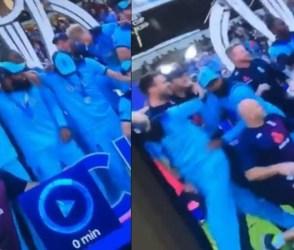 ઇંગ્લેન્ડના જશ્ન દરમિયાન શૈમ્પેનની બોટલ ખોલતા જ મુસ્લીમ ક્રિકેટરો ભાગ્યા, જુઓ VIDEO