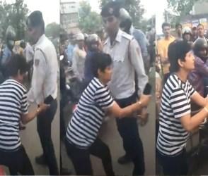 VIDEO: નશો કરીને ભાન ભૂલી મહિલા, ટ્રાફિક પોલીસ સાથે ગેરવર્તન અને અભદ્ર શબ્દો…