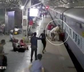 ચાલુ ટ્રેને ચઢવાનાં શોખીનો એક વાર આ VIDEO જરૂર જોજો, મહિલાનો જીવ…