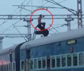 VIDEO: એક શખ્સ રેલવે પટરી પર આ જગ્યાએ ચડી ગયો, લાંબી માથાકુટ બાદ નીચે ઉતાર્યો