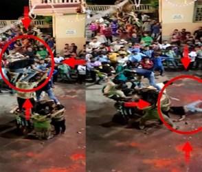 સુરતમાં મટકી ફોડવા જતાં જ ગોવિંદા રોડ પર પટકાયો, બંને હાથે ફ્રેક્ચર, જુઓ Live વીડિયો