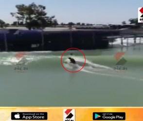 પાણીનાં વમળમાં ખતરનાક સ્ટંટ કરતા યુવકનો VIDEO વાયરલ, જોઈને કહેશો ' આ અઘરૂં છે'