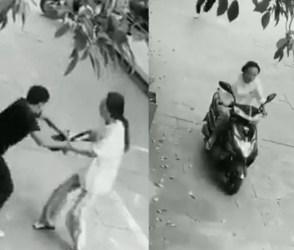 VIDEO: આ શખ્સ હવે ક્યારેય ચોરી કરવા નહીં ફરકે! મહિલા સામેેથી ડફોળ ચોરને લૂંટી ગઈ