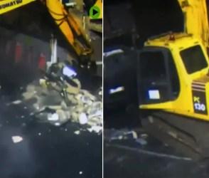 VIDEO: ATM ચોરીની આવી ઘટનાં તમે નહીં જોઈ હોય! JCB લઈને આવ્યા અને મશીન કારમાં ભરી ગયા