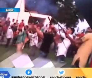 સાણંદમા 5 યુવાનોએ હવામાં ધડાધડ 10 રાઉન્ડ ફાયરિંગ કર્યું, VIDEO વાયુવેગે વાયરલ